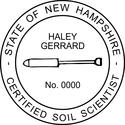 New Hampshire Soil Scientist Stamp Seal