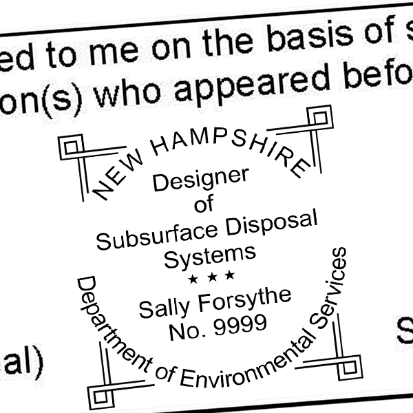 State of New Hampshire Subsurface Disposal Systems Seal Imprint