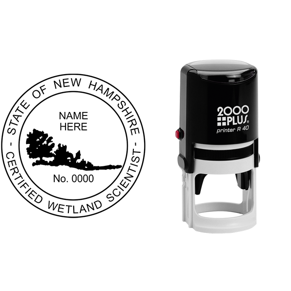 State of New Hampshire Wetland Scientist Seal Body and Imprint
