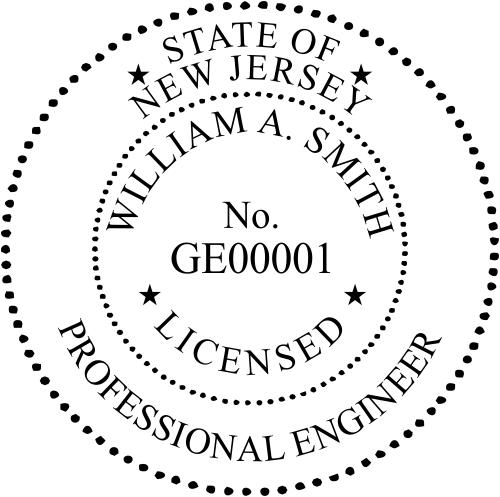 New Jersey Engineer Seal