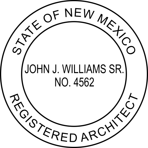 New Mexico Architect Stamp Seal