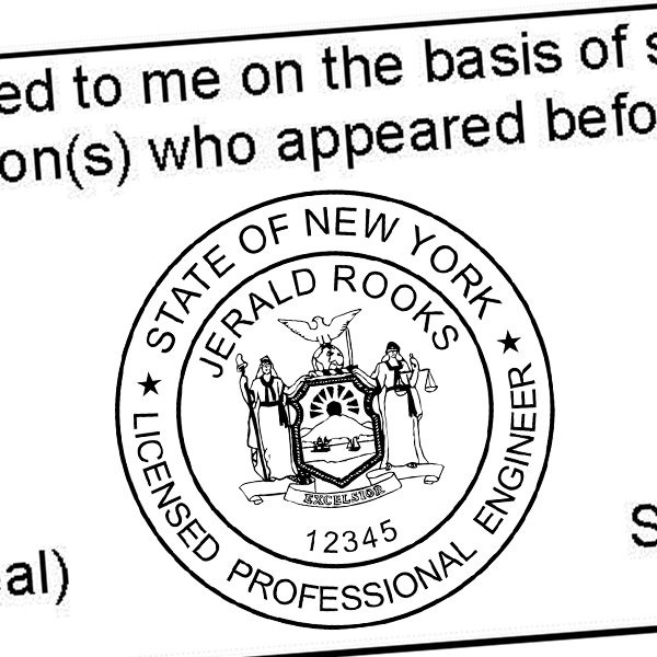State of New York Geologist Seal Imprint