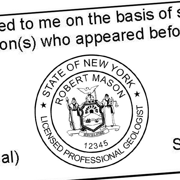 State of New York Land Surveyor Seal Imprint