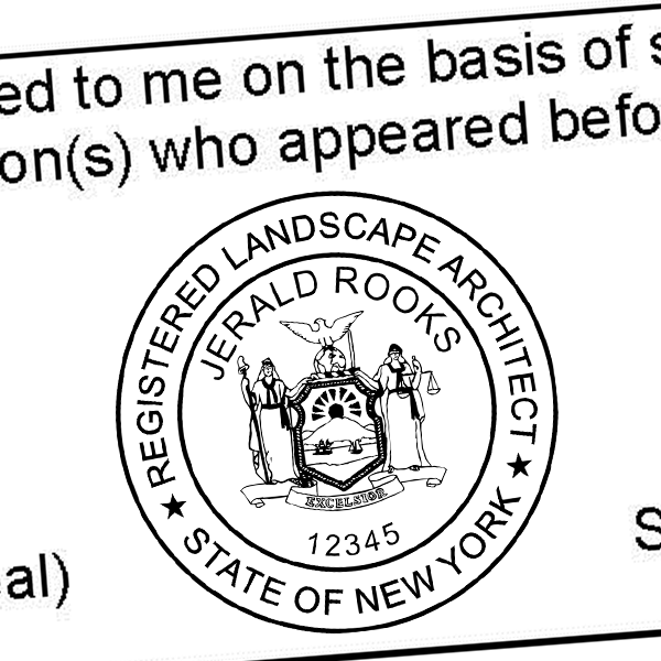 State of New York Landscape Architect Seal Imprint