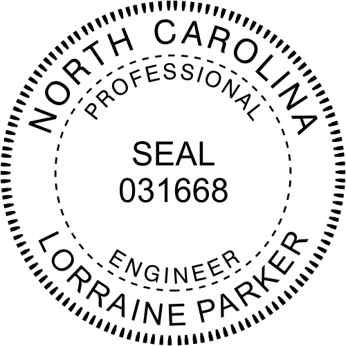 North Carolina Engineer Stamp Seal