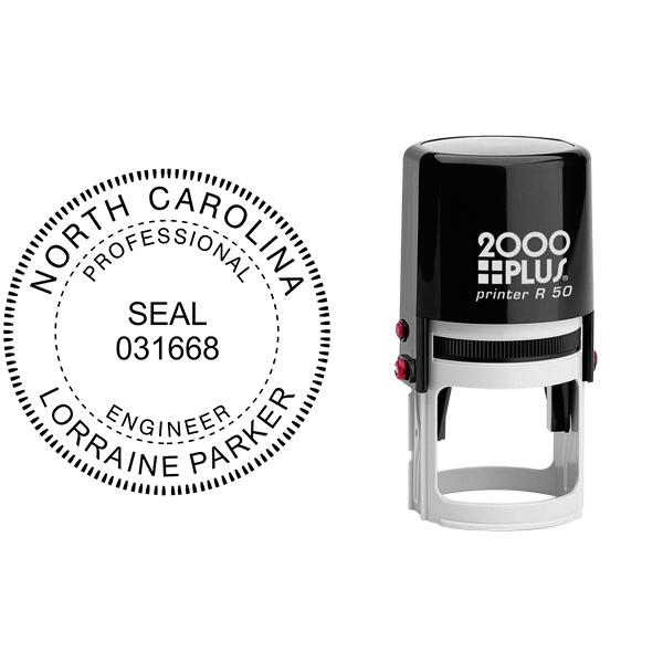 State of North Carolina Engineer Seal Body and Imprint