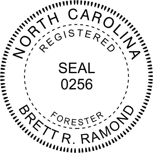 North Carolina Forester Stamp Seal