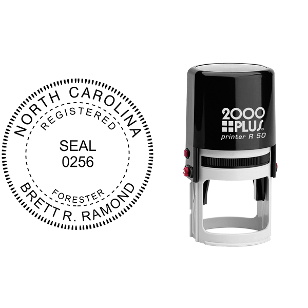State of North Carolina Forester Seal Body and Imprint