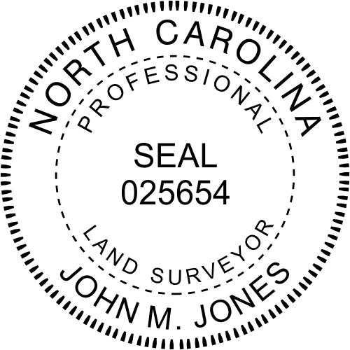 North Carolina Land Surveyor Stamp Seal