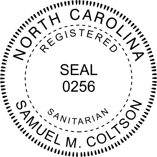 North Carolina Sanitarian Stamp Seal