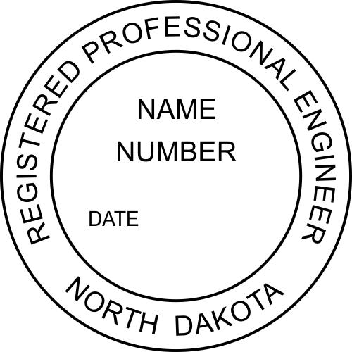 North Dakota Engineer Stamp Seal