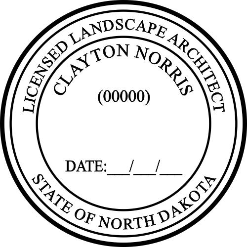 North Dakota Landscape Architect Stamp
