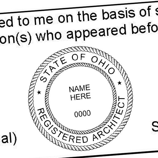 State of Ohio Architect Individual Seal Imprint