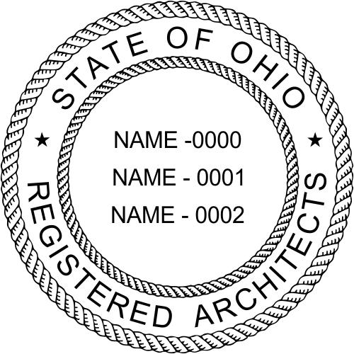 Ohio Architects Three Professionals Stamp Seal