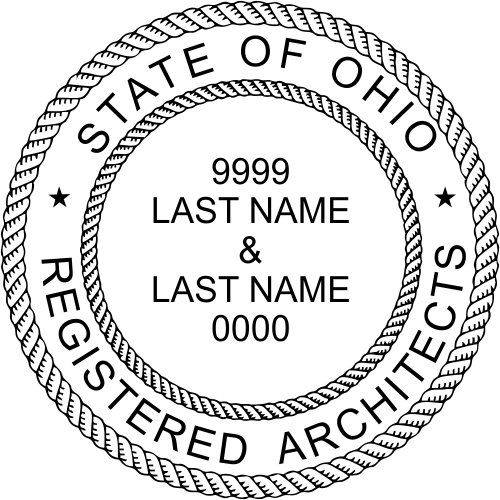 Ohio Architects Two Professionals Stamp Seal