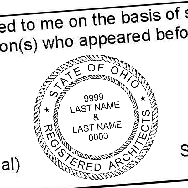 State of Ohio Architect Two Names Seal Imprint