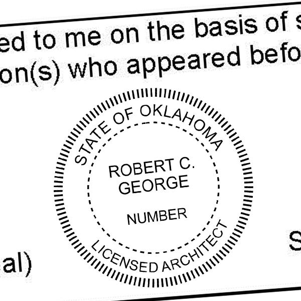 State of Oklahoma Architect Seal Imprint
