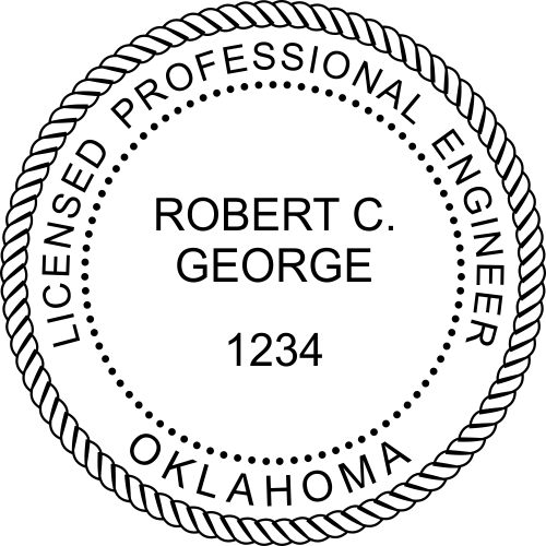 Oklahoma Engineer Stamp Seal