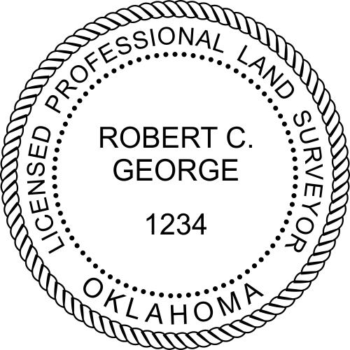 Oklahoma Surveyor Stamp Seal