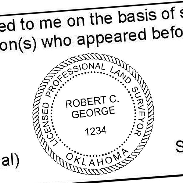 State of Oklahoma Land Surveyor Seal Imprint