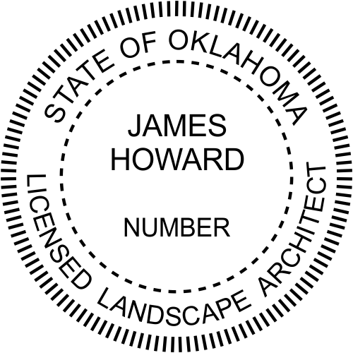 Oklahoma Landscape Architect Stamp Seal