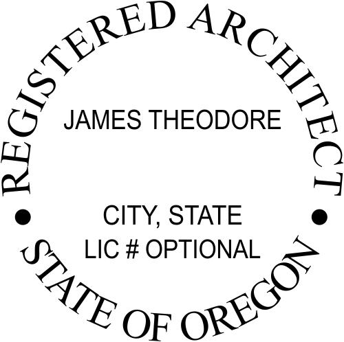 Oregon Architect Stamp