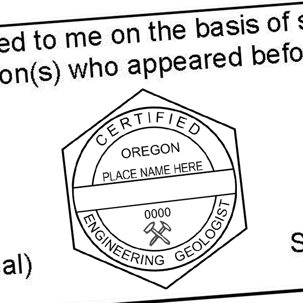 State of Oregon Engineer Geologist Seal Imprint