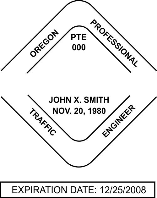 Oregon Traffic Engineer Stamp