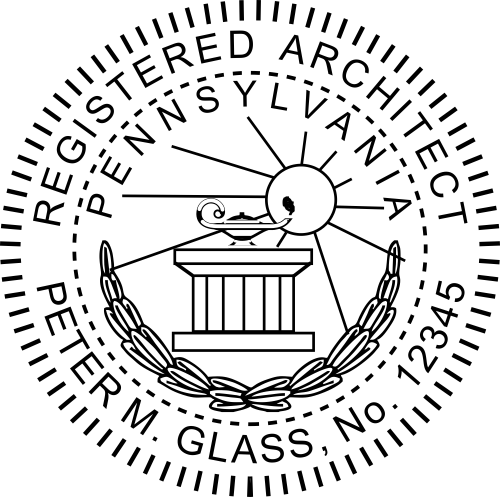 Pennsylvania Architect Stamp