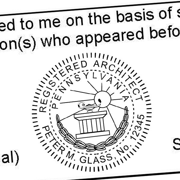 State of Pennsylvania Architect Seal Imprint