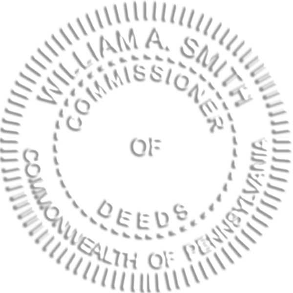State of Pennsylvania Commissioner of Deeds