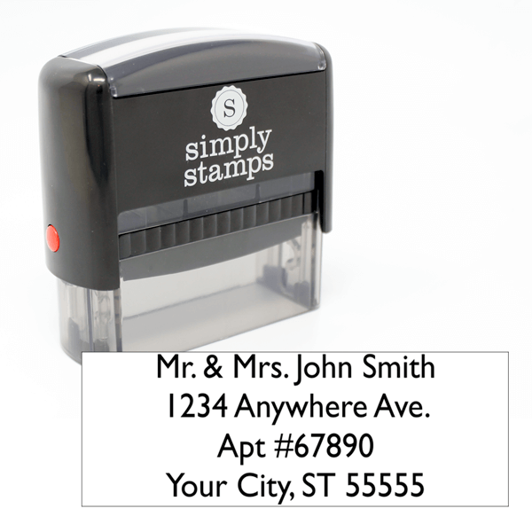 4 Line Address Self-Inking Stamp