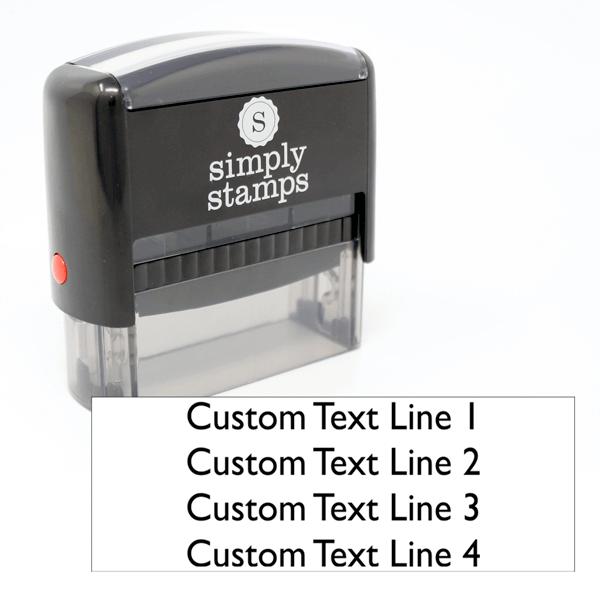 4 Line Custom Self-Inking Stamp