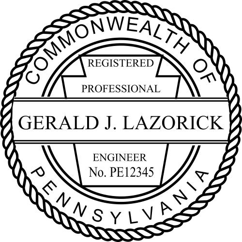 Pennsylvania Engineer Stamp Seal