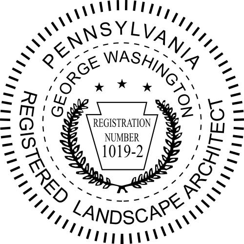 Pennsylvania Landscape Architect Stamp