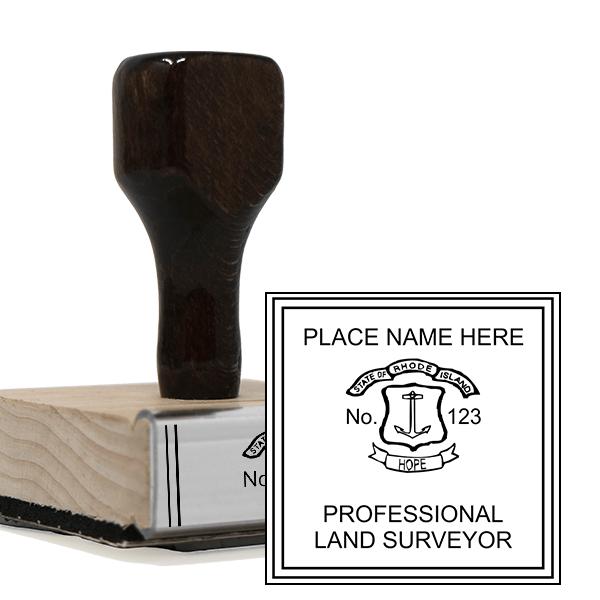 State of Rhode Island Land Surveyor Stamp