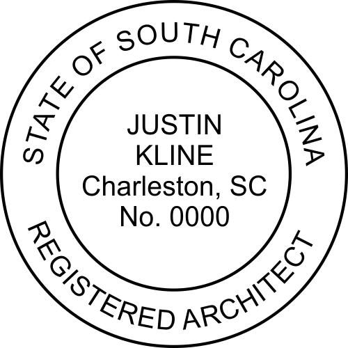South Carolina Architect Stamp
