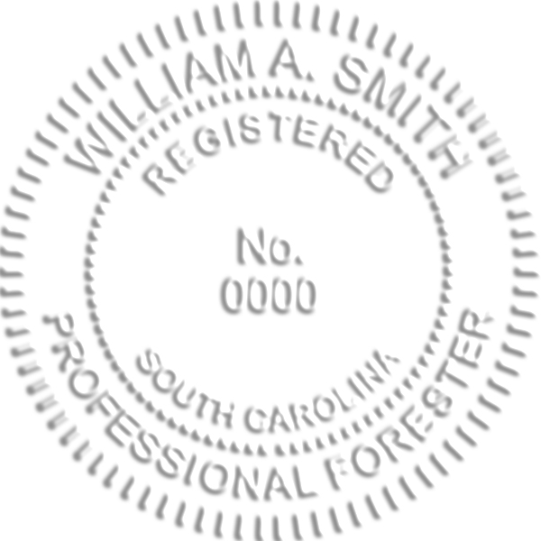 South Carolina Forester Embosser Seal