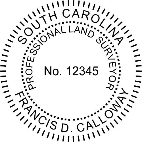 South Carolina Land Surveyor Stamp Seal