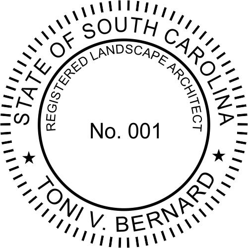 South Carolina Landscape Architect Stamp Seal