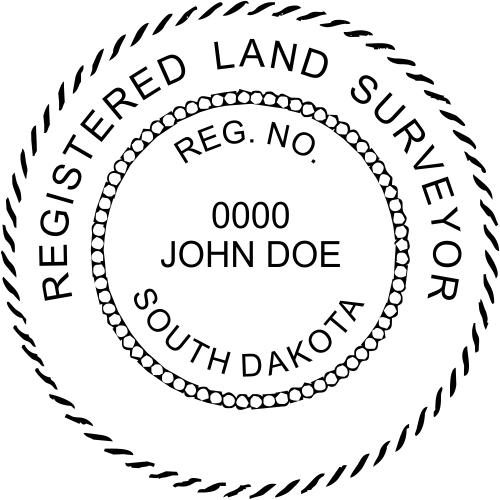 South Dakota Land Surveyor Stamp