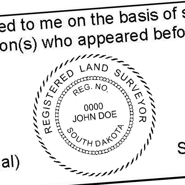 State of South Dakota Land Surveyor Seal Imprint