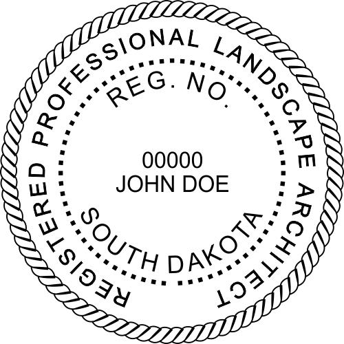 South Dakota Landscape Architect Stamp