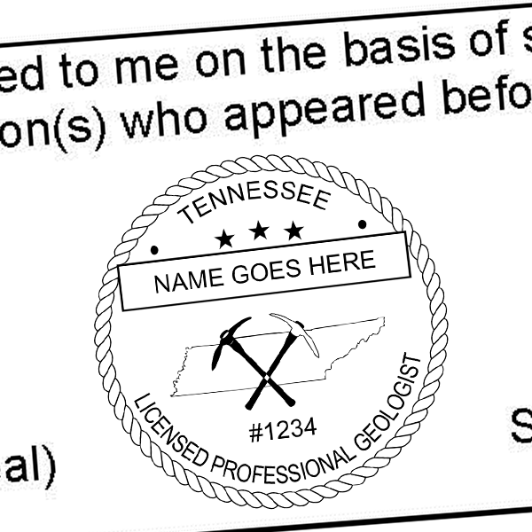 State of Tennessee Geologist Seal Imprint