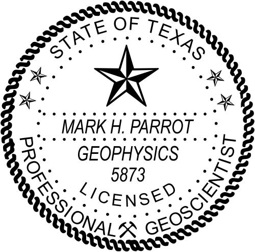Texas Geoscientist Stamp Seal