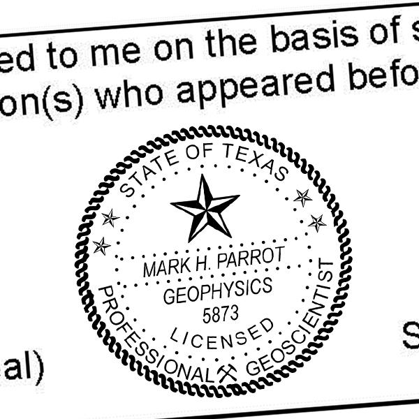 State of Texas Geoscientist Seal Imprint
