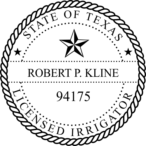 Texas Irrigator Stamp Seal