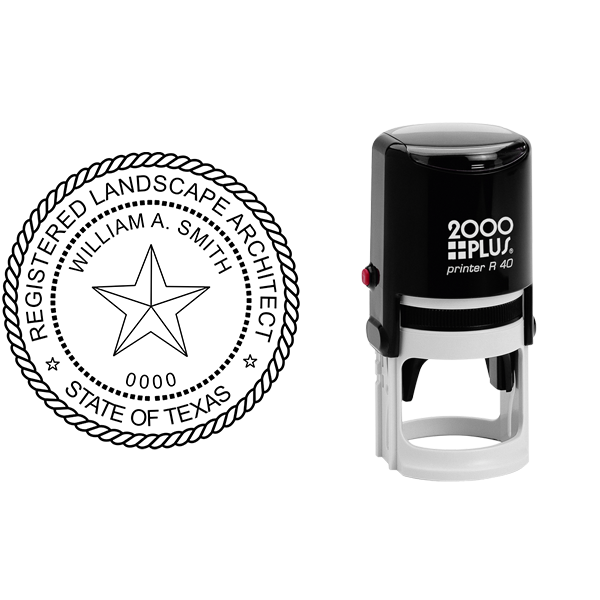 State of Texas Landscape Architect Seal Body and Imprint