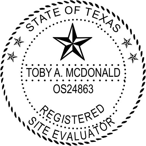 Texas Site Evaluator Stamp Seal