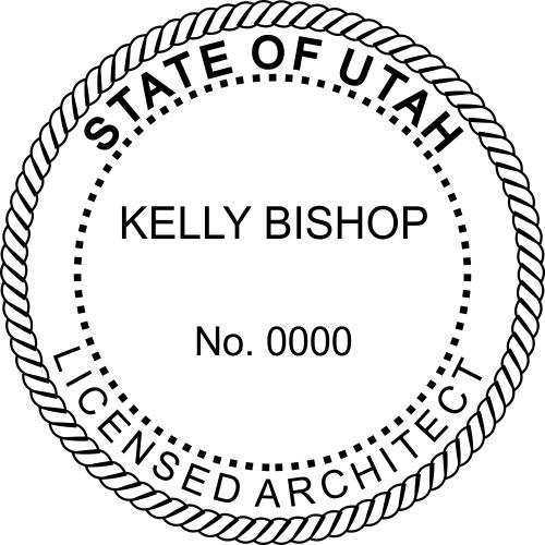 Utah Architect Stamp Seal